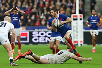 2nd February 2020, Stade de France, Paris; France, 6-Nations International rugby union, France versus England;  Vincent Rattez (France) slips the tackle from Tom Curry (Eng)
