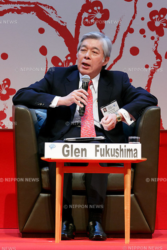 Center of American Progress Senior Fellow Glen Fukushima speaks during the 2017 Global Summit of Women on May 11, 2017, Tokyo, Japan. The annual Global Summit of Women is being held in Tokyo for the first time with the objective of empowering Japanese women through the speeches of female leaders' from both the private and public sectors. The event is organized by the Washington-based NPO Globe Women and runs until May 13. (Photo by Rodrigo Reyes Marin/AFLO)