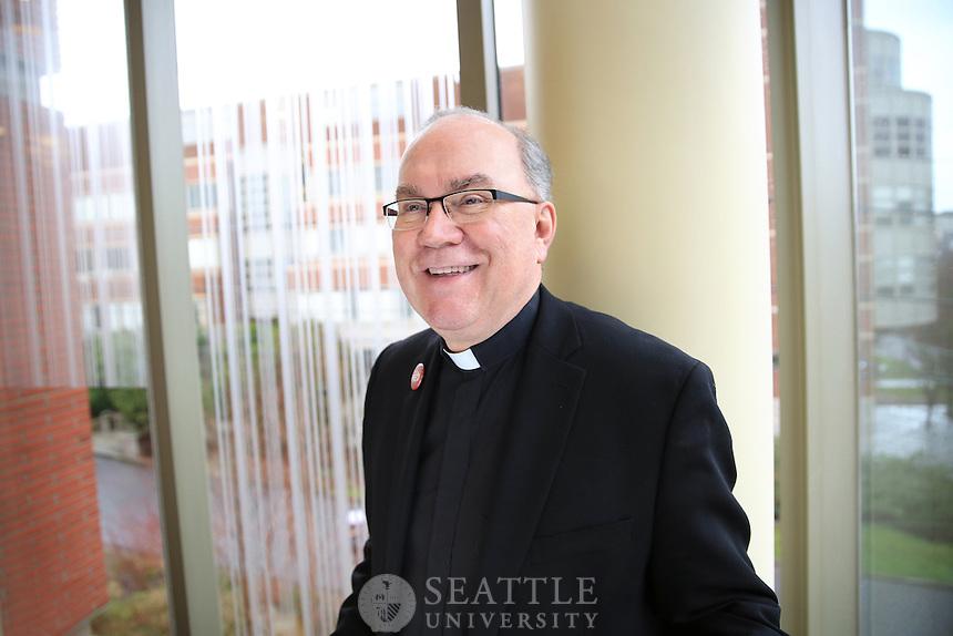 02062015- Seattle University president Fr. Steve Sundborg