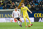 Samuel Castillejo Azuaga (r) of Villarreal CF competes for the ball with Jose Luis Gaya Pena of Valencia CF during their La Liga match between Villarreal CF and Valencia CF at the Estadio de la Cerámica on 21 January 2017 in Villarreal, Spain. Photo by Maria Jose Segovia Carmona / Power Sport Images