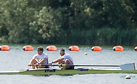 Caversham, Nr Reading, Berkshire.<br /> <br /> left. Matthew TARRANT and Nathaniel RIELLY-O'DONNELL.     Olympic Rowing Team Announcement morning training before the Press conference at the RRM. Henley.<br /> <br /> Thursday  09.06.2016<br /> <br /> [Mandatory Credit: Peter SPURRIER/Intersport Images]