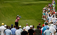 Golfer Vijay Singh tees of on 9 during the Quail Hollow Championship 2009 Pro-Am in Charlotte, North Carolina. The Pro-Am is held as part of the professional championship, formerly called the Wachovia Championship, which is a top event on the PGA Tour, attracting such popular golf icons as Tiger Woods, Vijay Singh and Bubba Watson. Photo from the first round in the Quail Hollow Championship golf tournament at the Quail Hollow Club in Charlotte, N.C., Thursday, April 30, 2009...golfer Camilo Villegas  tees off on 9