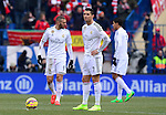 Real Madrid's Portuguese forward Cristiano Ronaldo during the Spanish league football match Club Atletico de Madrid vs Real Madrid CF at the Vicente Calderon stadium in Madrid on February 7, 2015.            PHOTOCALL3000/ DP