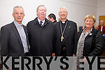 The Bishop of Kerry Ray Browne pictured at the Cahersiveen Community Centre on Saturday night last with l-r; Canon Larry Kelly VFPP, Denis Cournane, Bishop Ray Browne & Mary Landers(Chairperson Cahersiveen Parish Council).