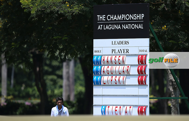 Ironically there were plenty of holes left on the board for things to change during the Final Round of the The Championship 2014 from the Laguna National Golf & Country Club, Tampines, Singapore. Picture:  David Lloyd / www.golffile.ie