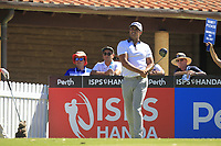 Dimitrios Papadatos (AUS) in action on the 1st during Round 3 of the ISPS Handa World Super 6 Perth at Lake Karrinyup Country Club on the Saturday 10th February 2018.<br /> Picture:  Thos Caffrey / www.golffile.ie<br /> <br /> All photo usage must carry mandatory copyright credit (&copy; Golffile | Thos Caffrey)