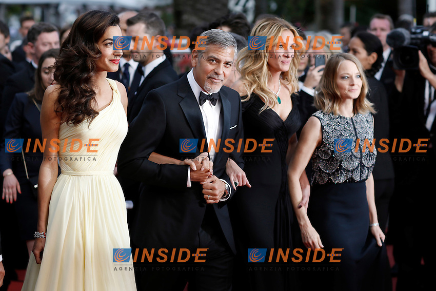 Amal Clooney, george Clooney, Julia Roberts, Jodie Foster<br /> Festival di Cannes 2016 <br /> Foto Panoramic / Insidefoto