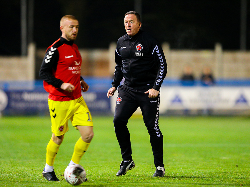 Fleetwood Town's first team coach Steve Eyre<br /> <br /> Photographer Alex Dodd/CameraSport<br /> <br /> The Emirates FA Cup Second Round - Guiseley v Fleetwood Town - Monday 3rd December 2018 - Nethermoor Park - Guiseley<br />  <br /> World Copyright © 2018 CameraSport. All rights reserved. 43 Linden Ave. Countesthorpe. Leicester. England. LE8 5PG - Tel: +44 (0) 116 277 4147 - admin@camerasport.com - www.camerasport.com