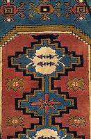 Europe/Turquie/Antalya : Vieille boutique de marchand de tapis - Détail tapis