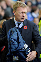 28.10.2012 Liverpool, England. David Moyes  during the Premier League game between Everton and Liverpool  from Goodison Park ,Liverpool