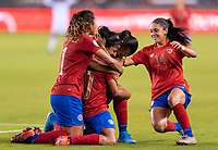 HOUSTON, TX - JANUARY 28: Shirley Cruz #10 of Costa Rica celebrates her goal with teammates during a game between Costa Rica and Panama at BBVA Stadium on January 28, 2020 in Houston, Texas.