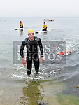 Colin Lowth wins the Round the Head swim at Clogherhead. Photo:Colin Bell/pressphotos.ie