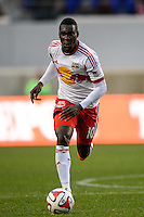 Lloyd Sam (10) of the New York Red Bulls. The New York Red Bulls and Chivas USA played to a 1-1 tie during a Major League Soccer (MLS) match at Red Bull Arena in Harrison, NJ, on March 30, 2014.