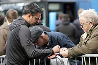 Huddersfield Town manager David Wagner signs autographs for fans as he arrives at Turf Moor ahead of kick-off<br /> <br /> Photographer Rich Linley/CameraSport<br /> <br /> The Premier League - Burnley v Huddersfield Town - Saturday 6th October 2018 - Turf Moor - Burnley<br /> <br /> World Copyright &copy; 2018 CameraSport. All rights reserved. 43 Linden Ave. Countesthorpe. Leicester. England. LE8 5PG - Tel: +44 (0) 116 277 4147 - admin@camerasport.com - www.camerasport.com