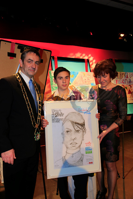 Ryan Collier winner at the Art Exhibition &amp; Information Event in the Barbican centre by louth leader partnership.<br /> Picture: Fran Caffrey www.newsfile.ie