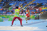 Xingyu Chen (CHN), <br /> SEPTEMBER , 2016 - Athletics : <br /> Men's Long Jump T11 at Olympic Stadiumduring the Rio 2016 Paralympic Games in Rio de Janeiro, Brazil.<br /> (Photo by AFLO SPORT)