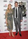 HOLLYWOOD, CA - NOVEMBER 09: Actor/model Molly Sims (L) and producer Scott Stuber  attend the screening of Netflix's 'Mudbound' at the Opening Night Gala of AFI FEST 2017 presented by Audi at TCL Chinese Theatre on November 9, 2017 in Hollywood, California.