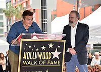 Rupert Friend & Mandy Patinkin at the Hollywood Walk of Fame Star Ceremony honoring actor Mandy Patinkin on Hollywood Boulevard, Los Angeles, USA 12 Feb. 2018<br /> Picture: Paul Smith/Featureflash/SilverHub 0208 004 5359 sales@silverhubmedia.com