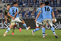 Giovanni Simeone of Cagliari scores the goal of 0-1 during the Serie A football match between SS Lazio and Cagliari Calcio at Olimpico stadium in Rome ( Italy ), July 23th, 2020. Play resumes behind closed doors following the outbreak of the coronavirus disease. Photo Andrea Staccioli / Insidefoto