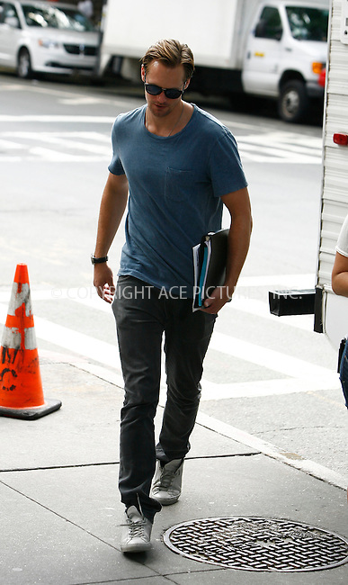 WWW.ACEPIXS.COM . . . . .  ....August 11 2011, New York City....Actor Alexander Skarsgard on the set of the new movie 'What Maise Knew' on August 11 2011 in New York City....Please byline: CURTIS MEANS - ACE PICTURES.... *** ***..Ace Pictures, Inc:  ..Philip Vaughan (212) 243-8787 or (646) 679 0430..e-mail: info@acepixs.com..web: http://www.acepixs.com