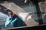 © Joel Goodman - 07973 332324 . 14 November 2013 . Manchester , UK . Queen Elizabeth II and the Duke of Edinburgh visit the Coop building at 1 Angel Square , Manchester , this morning ( 14th November 2013 ) . Photo credit : Joel Goodman