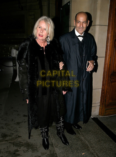 BETTY JACKSON.British Fashion Awards, Raphael Gallery, Victoria & Albert Museum, London, SW7, UK,.November 10th, 2005.Ref: AH.full length black fur coat.www.capitalpictures.com.sales@capitalpictures.com.© Capital Pictures.