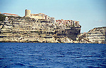 The clifftop town of Bonifacio, Corisca, France occupies a picturesque setting overlooking the Mediterranean.
