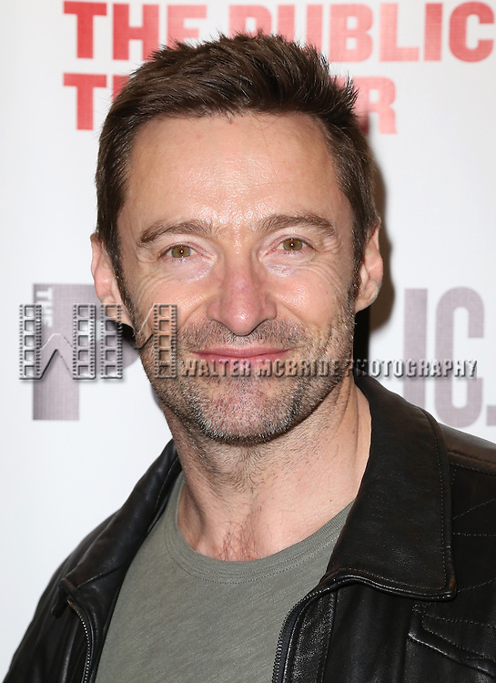 Hugh Jackman attends the Opening Night Celebration of 'Grounded' at the The Public Theatre on April 24, 2015 in New York City.