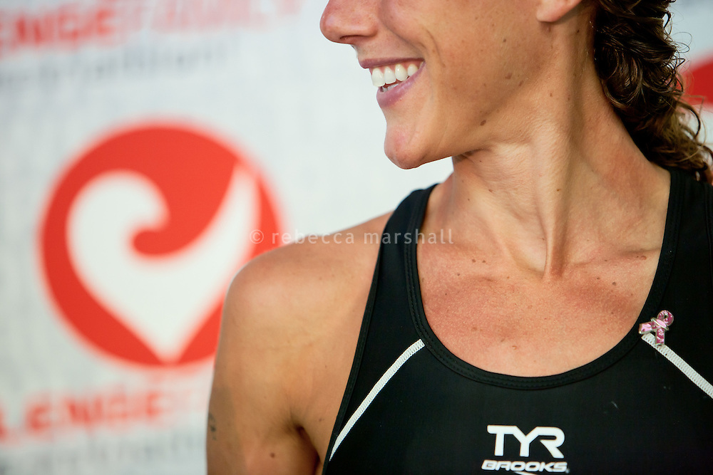 Chrissie Wellington at the press conference after winning the Challenge Roth Ironman Triathlon, Roth, Germany, 10 July 2011