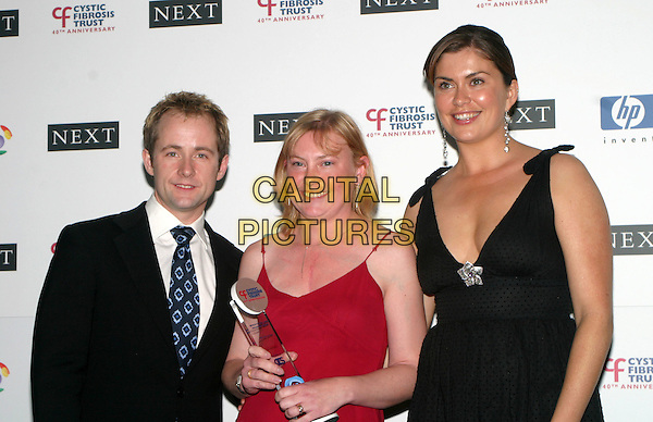 BILLY BOYD & AMANDA LAMB.Breathing Life Awards - Presented By The Cystic Fibrosis Trust. Royal Lancaster Hotel, London.April 29th, 2004.half length, half-length.www.capitalpictures.com.sales@capitalpictures.com.© Capital Pictures.