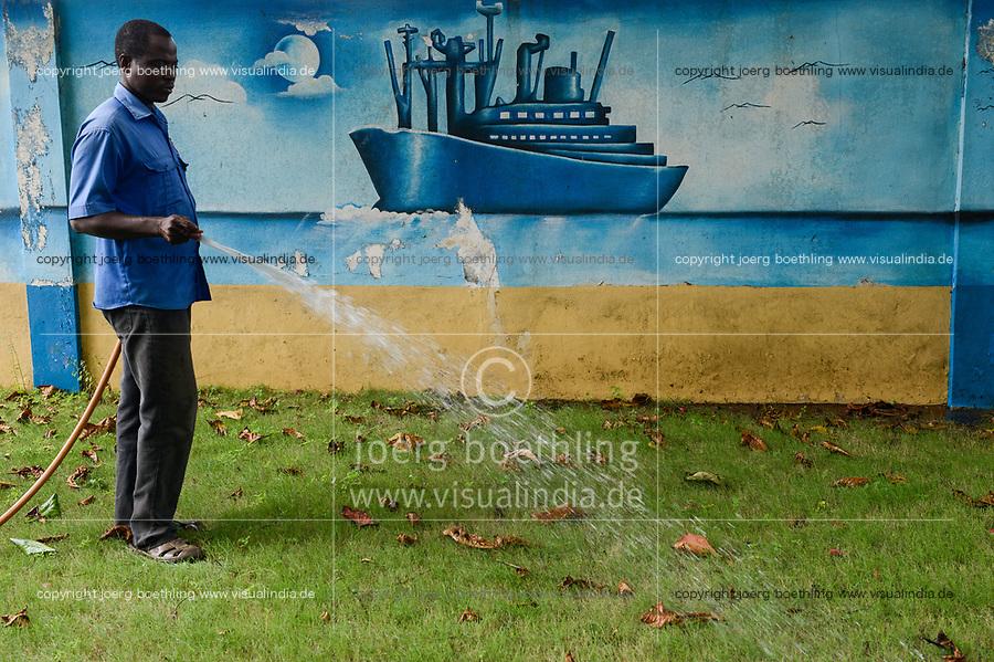 TOGO, Lome, port, seamen´s club of german seamen´s mission / Seemannsclub der deutschen Seemannsmission