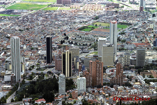 Bogota Cityscape From Monserrate Hill