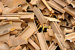 Staimen Recycling Center. Rail iron pieces.