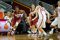 LOS ANGELES, CA - December 29, 2011:  Stanford's Nnemkadi Ogwumike during play against the USC Trojans at the Galen Center.   Stanford defeated USC, 61 - 53.