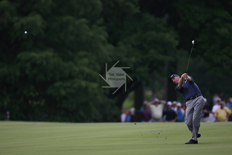 7 September 2008:    Jjim Furyk drives down the fairway in the fourth and final round of play at the BMW Golf Championship at Bellerive Country Club in Town & Country, Missouri, a suburb of St. Louis, Missouri on Sunday September 7, 2008. The BMW Championship is the third event of the PGA's  Fed Ex Cup Tour.