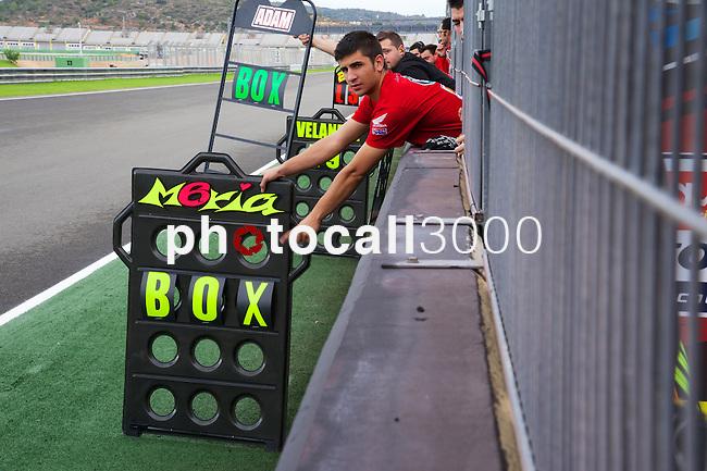 FIM CEV REPSOL Comunitat Valenciana during the moto spanish championship in Cheste, Valencia<br /> FP Moto3<br /> maria herrera<br /> PHOTOCALL3000
