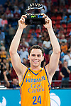Herbalife Gran Canaria's player Kyle Kuric winner of the MVP award during the final of Supercopa of Liga Endesa Madrid. September 24, Spain. 2016. (ALTERPHOTOS/BorjaB.Hojas)