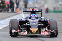 March 19, 2016: Max Verstappen (NDL) #33 from the Scuderia Toro Rosso team leaving the pits for qualifying at the 2016 Australian Formula One Grand Prix at Albert Park, Melbourne, Australia. Photo Sydney Low