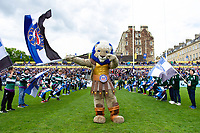 Bath Rugby mascot Maximus waves a flag. Gallagher Premiership match, between Bath Rugby and Wasps on May 5, 2019 at the Recreation Ground in Bath, England. Photo by: Patrick Khachfe / Onside Images