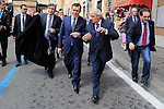 Turkish Vice Prime Minister Prof. Emrullah Isler (C) seens on day before attending the double canonisation of late Popes John Paul II and John XXIII presided over by Pontiffs Pope Francis and his elderly predecessor Benedict XVI at St Peter's square in Rome.  <br /> &copy; Pierre Teyssot