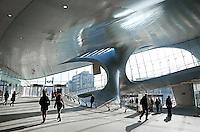 Nederland Arnhem 2015 10 31.  Het nieuwe Centraal Station in Arnhem.  Het gebouw is een ontwerp van UNStudio. Foto Berlinda van Dam / Hollandse Hoogte