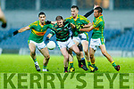 Niall Sheehy, Saint Brendans in action against Bryan Sheehan, South Kerry , Robert Wharton, South Kerry  and Fionan Clifford, South Kerry  during the Kerry Senior Football County Championship Round Two between Saint Brendans and South Kerry at Austin Stack Park Tralee on Saturday.