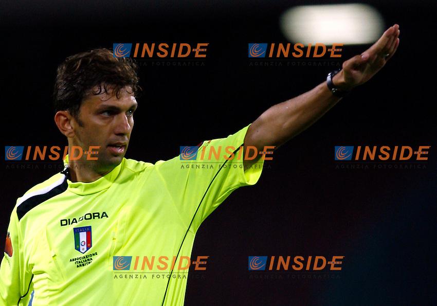 Napoli 11/8/2006 Trofeo Birra Moretti tra Napoli Juventus Inter. Vittoria della Juventus sul Napoli.<br /> Photo Andrea Staccioli Inside<br /> L'arbitro Banti