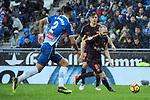 League Santander 2017-2018 - Game: 22.<br /> RCD Espanyol vs FC Barcelona: 1-1.<br /> Marc Navarro vs Andres Iniesta.