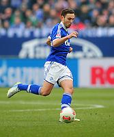 FUSSBALL   1. BUNDESLIGA   SAISON 2012/2013    27. SPIELTAG FC Schalke 04 - TSG 1899 Hoffenheim                       30.03.2013 Marco Hoeger (FC Schalke 04) Einzelaktion am Ball