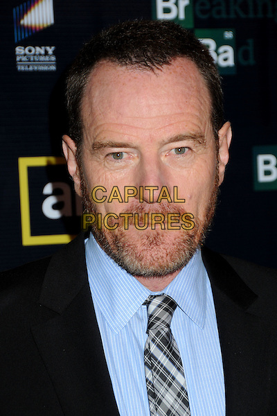 "BRYAN CRANSTON.""Breaking Bad"" Season Three Premiere held at Arclight Cinemas, Hollywood, California, USA..March 9th, 2010.headshot portrait black blue grey gray black plaid tartan tie beard facial hair .CAP/ADM/BP.©Byron Purvis/AdMedia/Capital Pictures."