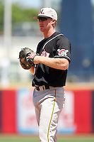July 10th 2008:  Tom Hagan of the Hickory Crawdads, Class-A affiliate of the Pittsburgh Pirates, during a game at Classic Park in Eastlake, OH.  Photo by:  Mike Janes/Four Seam Images