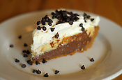 A vanilla-chocolate layered pie, at the Honeypie Cafe, on Kinnickinnic Ave. in Bay View, Milwaukee. Ernie Mastroianni photo.