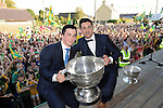 27-9-2014:   Aidan O'Mahony and Paul Murphy at the Kerry Team homecoming in Rathmore, County Kerry last evening.<br /> Picture by Don MacMonagle