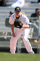 February 20, 2009:  First baseman Mike Dufek (7) of the University of Michigan during the Big East-Big Ten Challenge at Jack Russell Stadium in Clearwater, FL.  Photo by:  Mike Janes/Four Seam Images